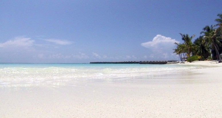 Paradise beach in the Maldives
